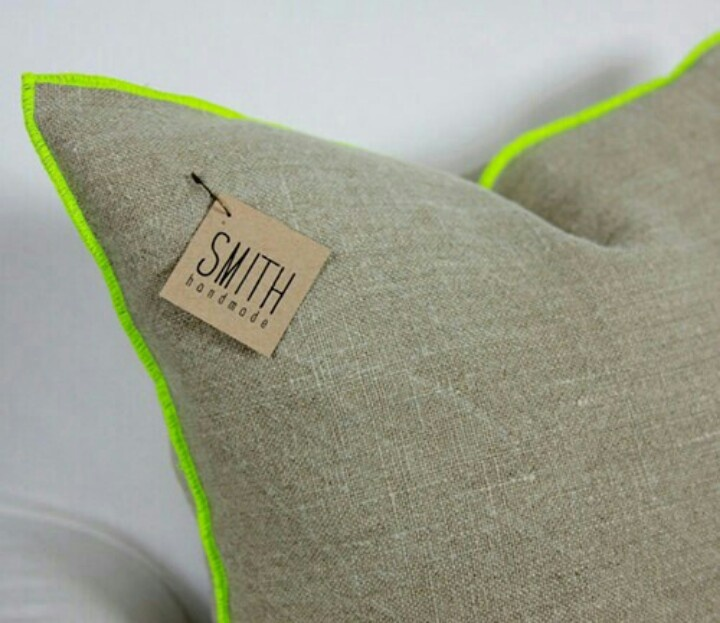 smith handmade neon edged pillows (via etsy)