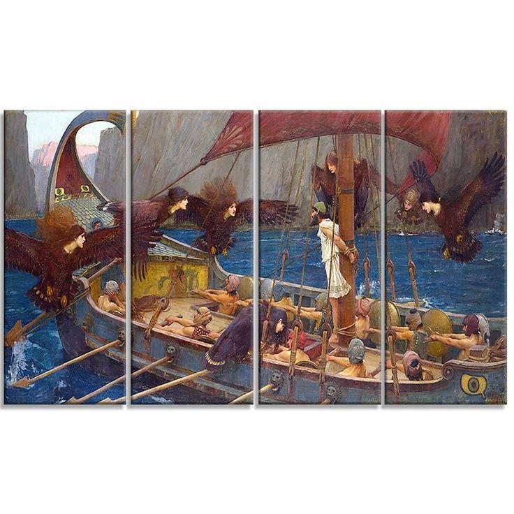 Design Art 'John William Waterhouse - Ulysses and the Sirens' Art Print
