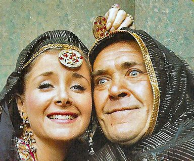 Carry On Up The Khyber - Angela Douglas and Peter Butterworth messing about on the set of Up the Khyber - What a Carry On Multimedia