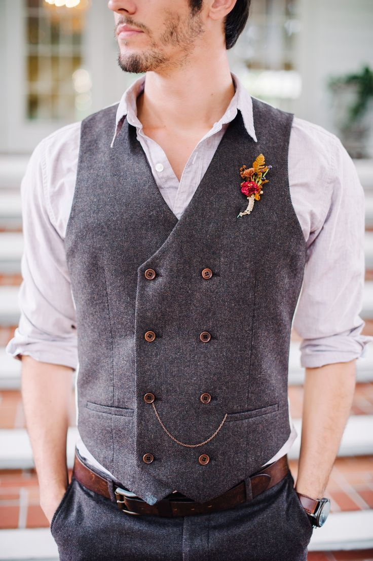 Vintage-Inspired Double Breasted Groom's Vest