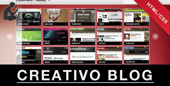 Review CREATIVO BLOG/PORTFOLIO (HTML/CSS)In our offer link above you will see