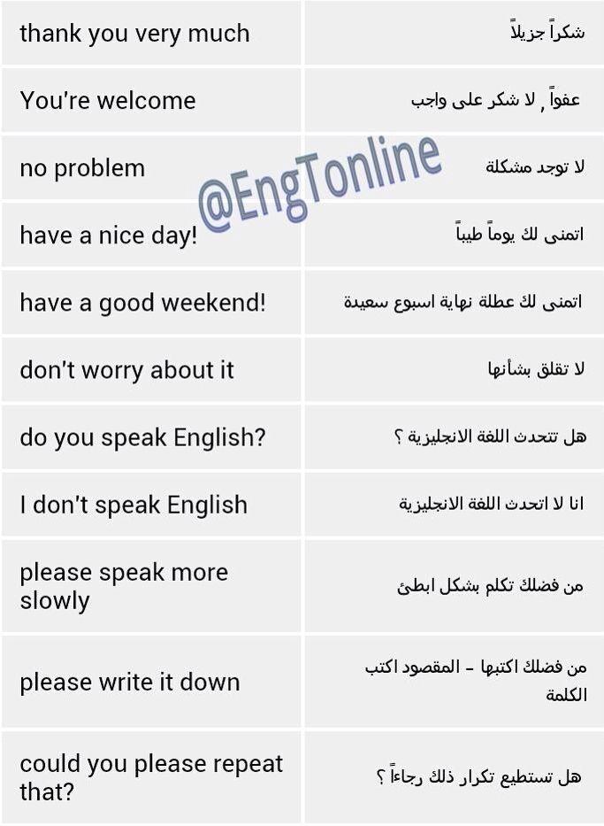عبارات تستخدم في المحادثات اليومية