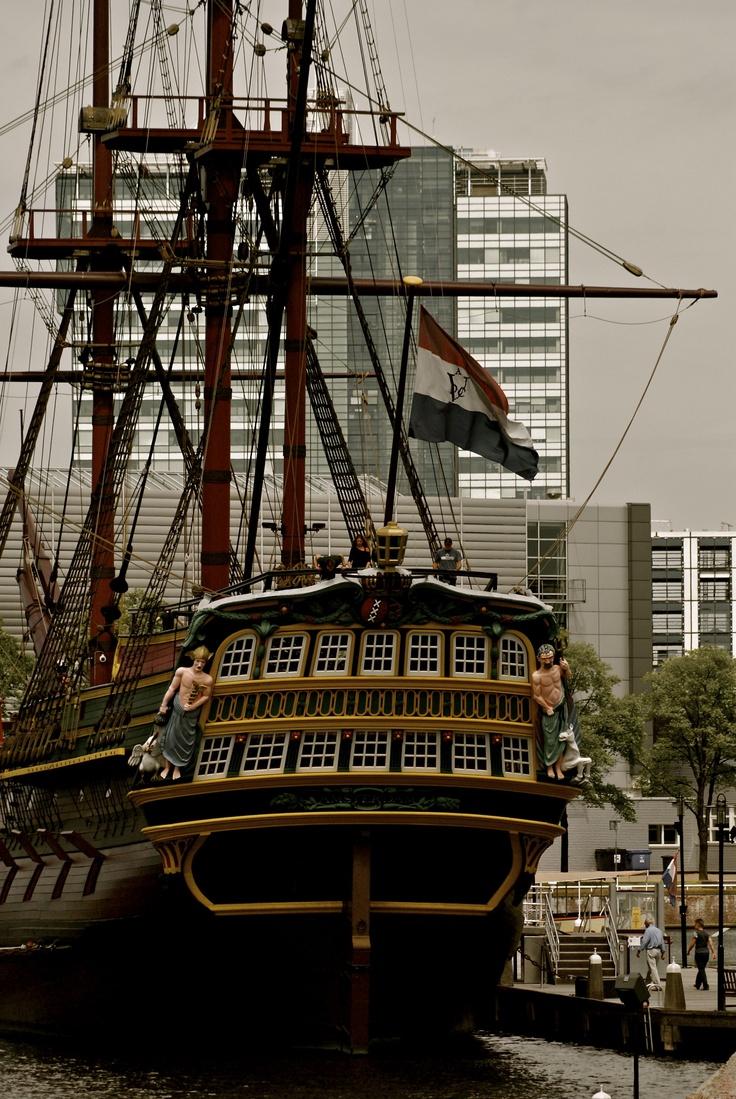 SAIL 2015 August  Holland - Amsterdam - 't IJ - VOC ship - VOC schip - Maritime museum - scheepvaartmuseum