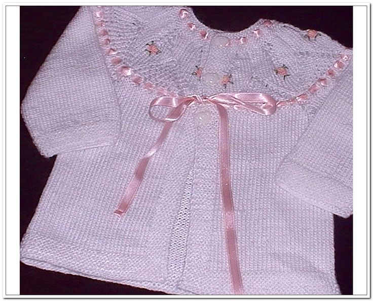 Louise Knits: Hand Knitted Baby Cardigan Pattern