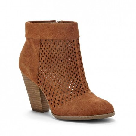 Women's Fennel Suede 3 1/4 Inch Perforated Suede Ankle Bootie   Sidney by Sole Society  I am in LOVE with these!!!