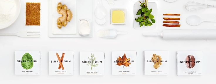 Simply Gum Natural Organic Chewing Gum All Natural Non GMO Mint Cinnamon Ginger Coffee Maple Fennel Bubble Gum