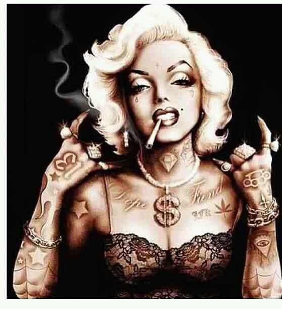Tatted up Marilyn...