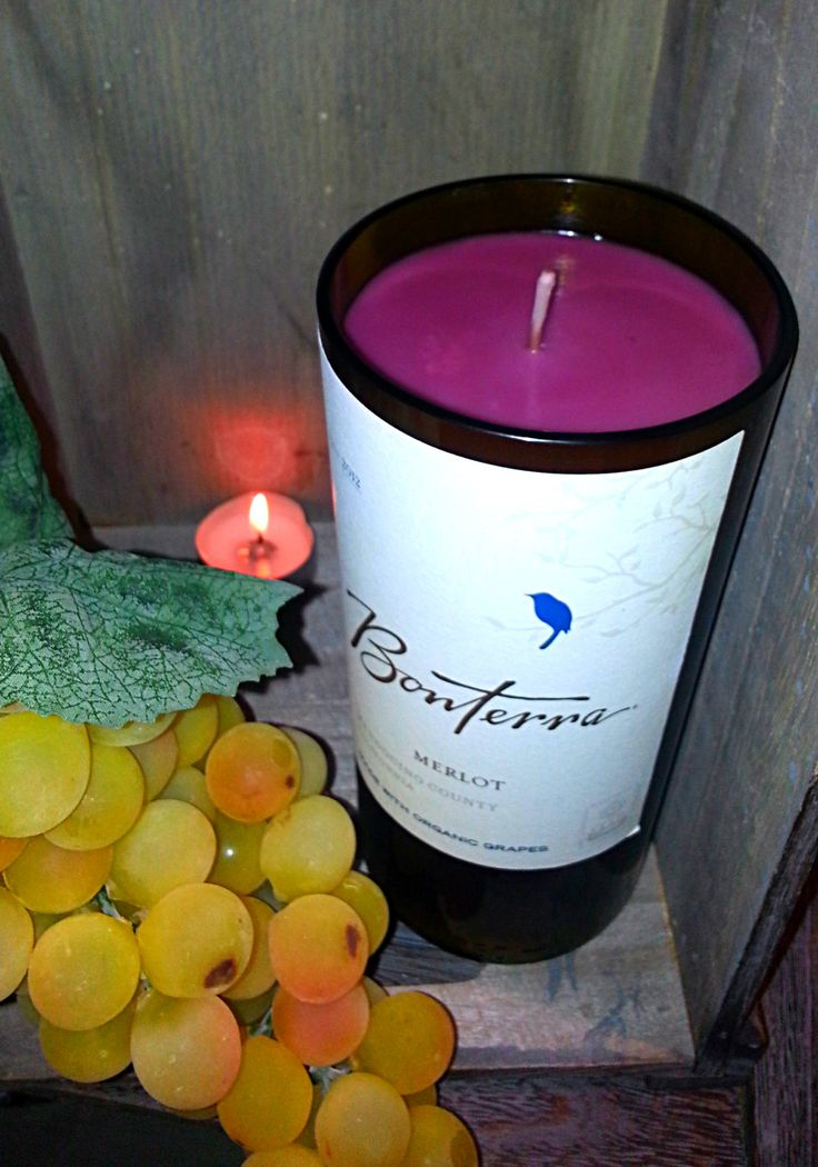 Bonterra Merlot Bottle Candle by CraftwicCandles on Etsy