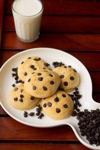 Eggless Chocolate Chip Cookies Recipe, Eggless Cookies