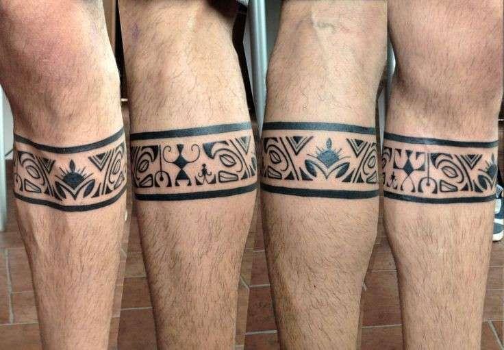 Tatuaggi uomo polpaccio - Fascia maori sul polpaccio ...