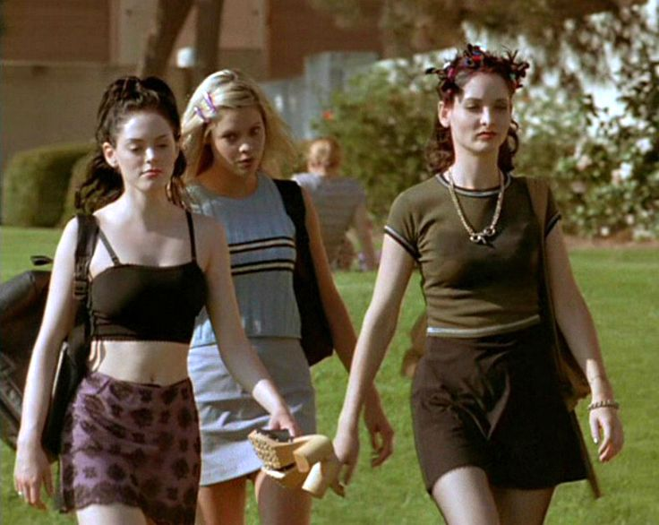 90s-outfits:  Rose McGowan in Devil in the Flesh (1998)  #outfits #90s #Devilintheflesh