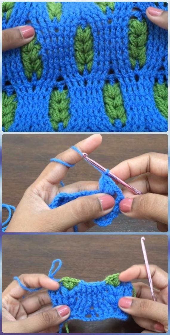Crochet Puff Wheat Stitch Free Patterns [Video]