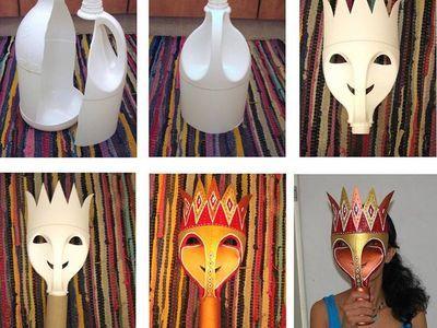 geniale Masken aus Plastikflaschen