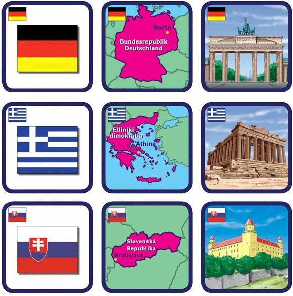 Pexetrio Státy a jejich symboly