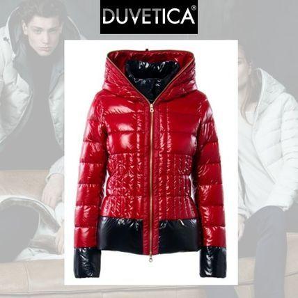 DUVETICA ダウンジャケット・コート Duvetica heledd トレンドのパワフルなレッド ダウンジャケット
