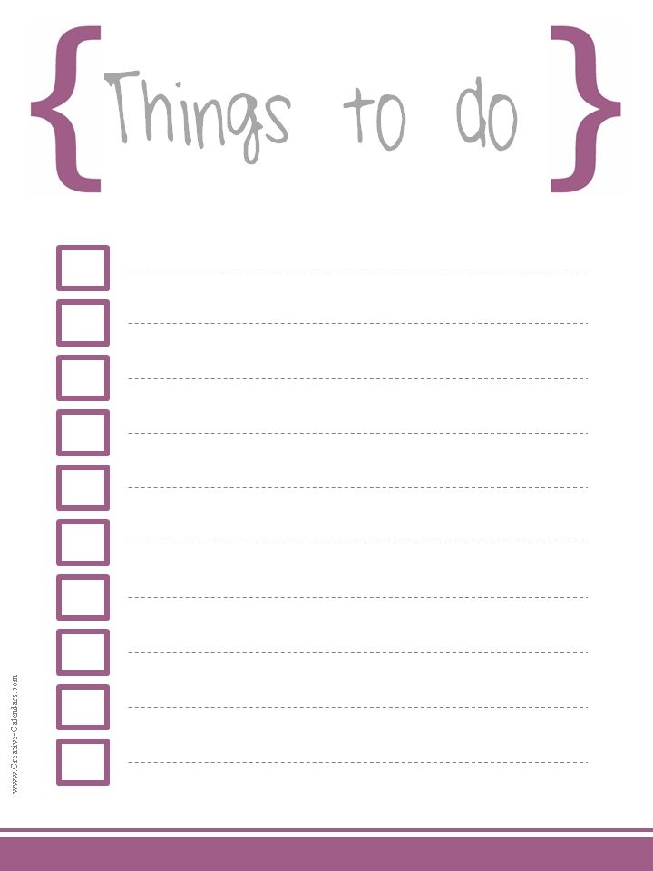 23 Best To Do List Images On Pinterest Free Printable