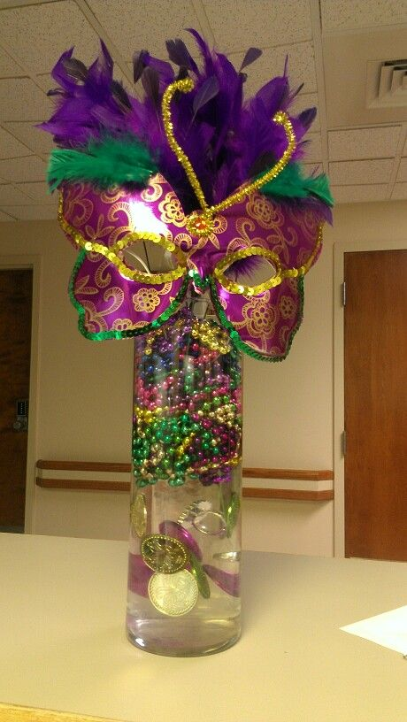 Easy Mardi Gras Centerpiece!