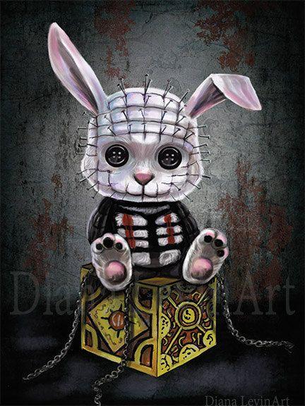 Pintura de fantasía gótica arte Print películas por DianaLevinArt
