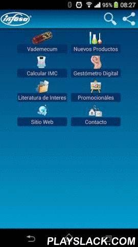 Vademecum Infasa  Android App - playslack.com , Esta es la aplicación del Vademécum de INFASA, con ella se pueden realizar consultas de toda la información sobre los productos farmacéuticos de esta empresa. Puede ser utilizada desde un dispositivo Android, ya sea teléfono celular o tablet. Contiene información y composición de nuestros productos, y está diseñada para ser utilizada por médicos, farmacéuticos y cualquier persona en general. Permite realizar búsquedas del catálogo de productos…