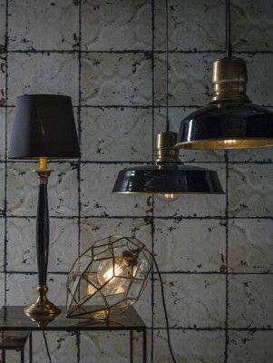 Taklampa - Paddington, svart/antikmässing