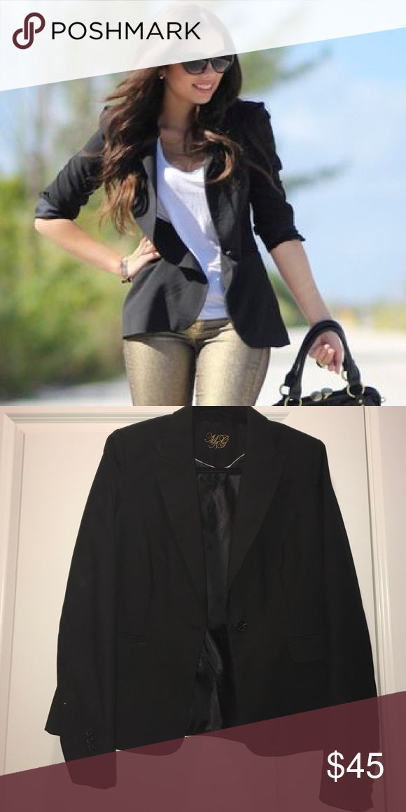 MNG Black Blazer MNG Mango by Penelope Cruiz black button front blazer. I have the matching pants listed if interested in a suit. MNG MANGO Tops