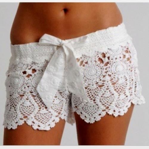 pineapple crochet shorts #fashion