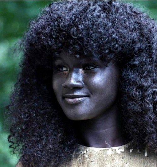 <p>Black is indeed beautiful. We present to you this s*xy Senegalese hot model, Khoudia Diop with an extremely dark skin that can be likened to charco...
