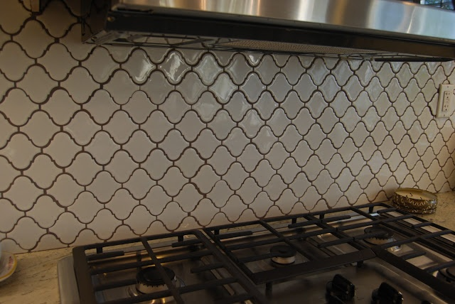 My Kitchen Backsplash White Lantern Tiles Laid