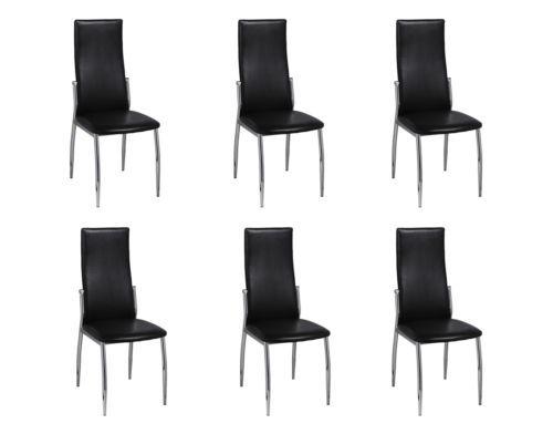6 Esszimmerstühle Essgruppe Stuhlgruppe Sitzgruppe Küchen Stuhl Stühle schwarz#Ssparen25.com , sparen25.de , sparen25.info
