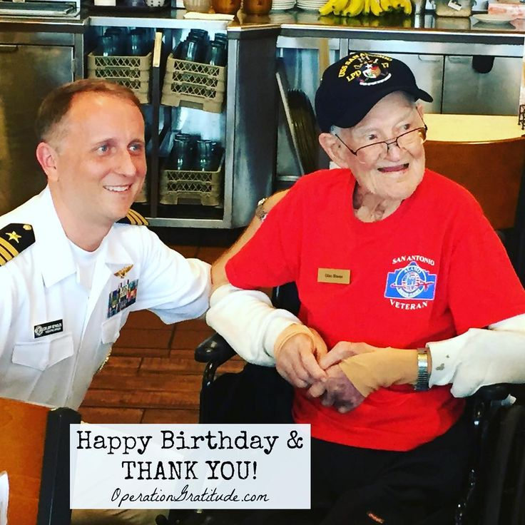"""Happy 100th birthday and THANK YOU for your service, Lt. Shean! ⚓️ We are grateful for all who serve and have served our country. Please join us as we say """"thank you""""! ❤️❤️Caption: In celebration of his 100th birthday, WWII Naval Aviator, Lt. Glen Shean receives a USS San Antonio (LPD-17) command ball cap from Cmdr. Jeffrey Reynolds, executive officer, Navy Recruiting District San Antonio. The presentation took place during an Alamo Honor Flight Breakfast on Nov. 7. Shean, a Boerne ..."""