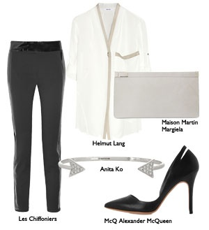 Monochrome it's so black and white, easy styling keeping a fresh and crisp style.