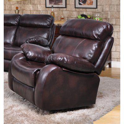 Red Barrel Studio Market Garden Recliner Upholstery: Brown