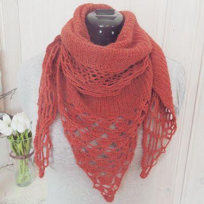 ELRUDA: Heklet og strikket skjerf