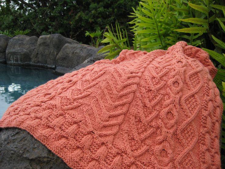 Falling Leaves Pattern Knit Blankets Afghans Pinterest Leaves