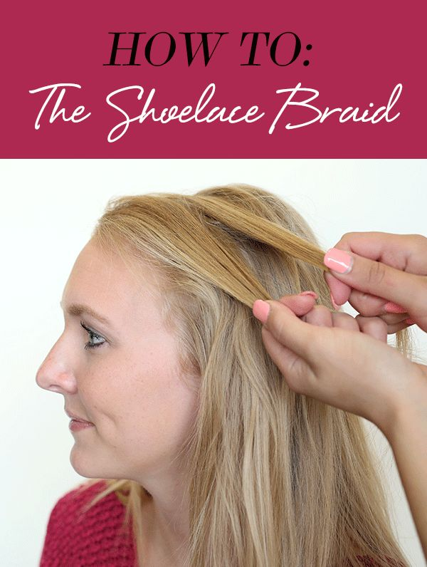 Braids are having a major moment in the hair world right now, and we love this shoelace braid look that's great for medium length and long hair. Follow our simple tutorial to get the pretty DIY look yourself.