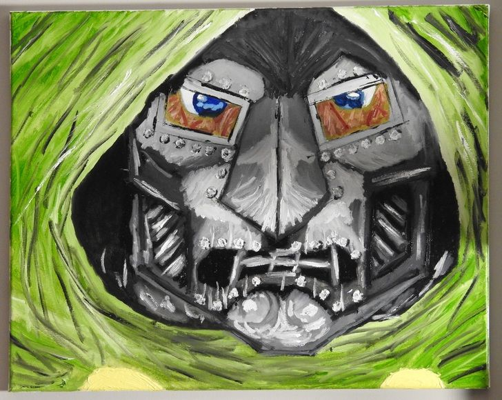 Dr. Doom, Oil, 16x20