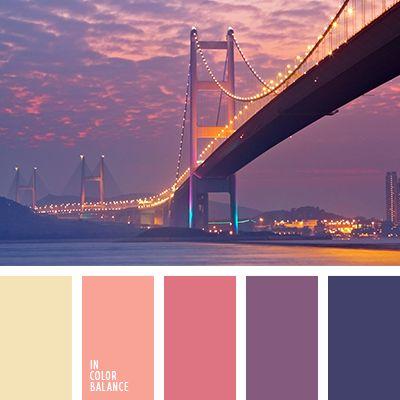 amarillo y anaranjado, amarillo y azul medianoche, amarillo y azul oscuro, amarillo y violeta, anaranjado y amarillo, anaranjado y azul medianoche, anaranjado y azul noche, anaranjado y rojo, anaranjado y violeta, azul medianoche con tono violeta, azul medianoche y amarillo, azul