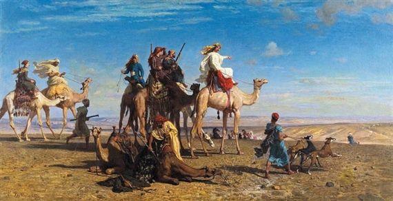 Κυνήγι γαζέλας στην έρημο του Σινά 1857