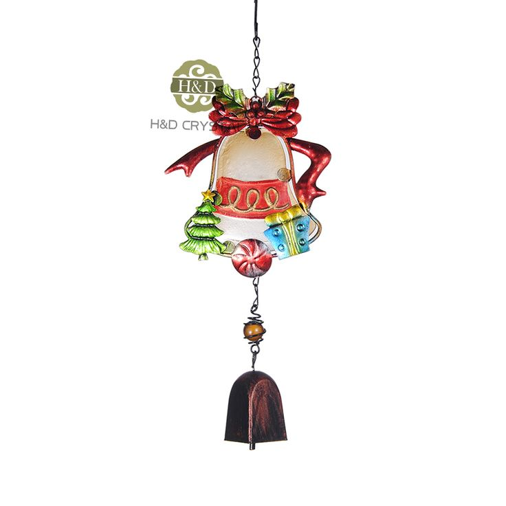 Christmas Gift Metal One Bell Suncatcher Wind Chimes Hanging Crafts Outdoor  Homeu0026Garden Decoration(China (