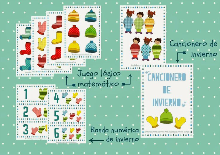 LLUVIA DE IDEAS: Descargables: Pack Invierno II para educación Infantil, lógica matemática