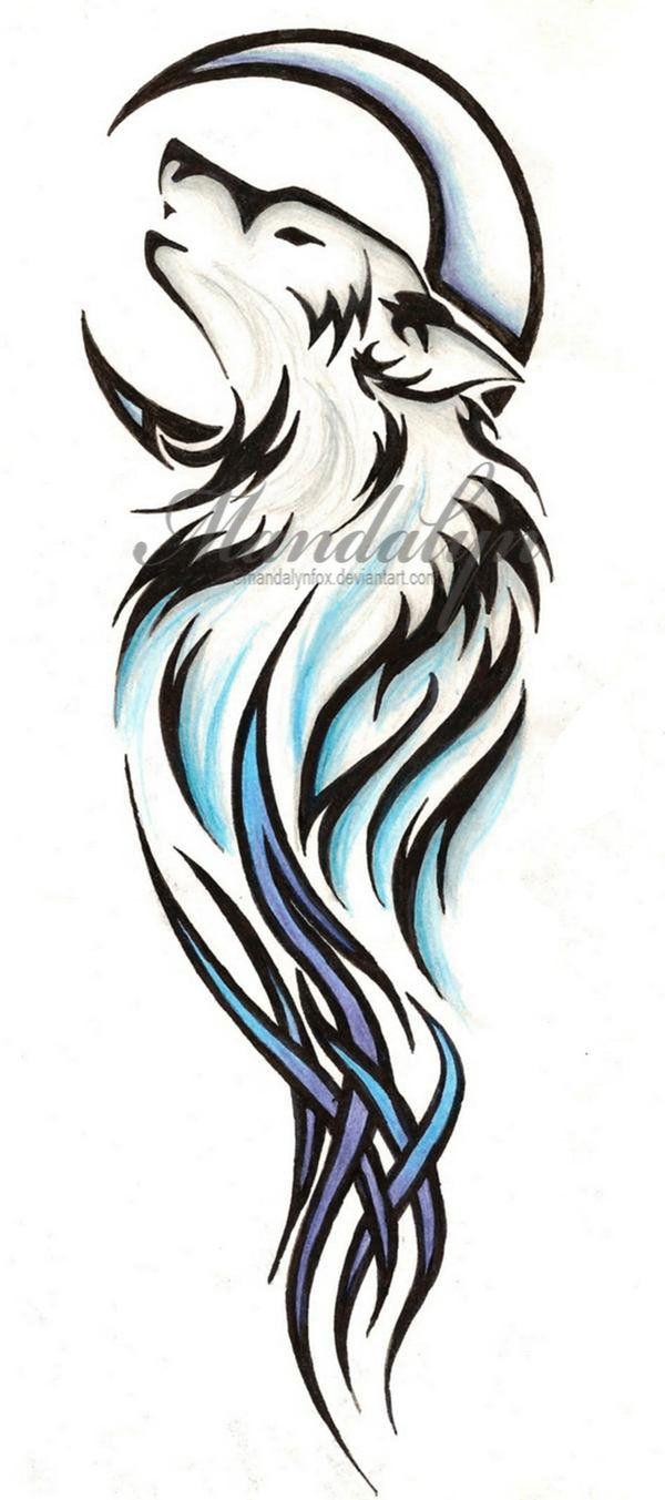 Tribal Wolf Tattoo By Mandalynfox On Deviantart Design 600x1353 Pixel