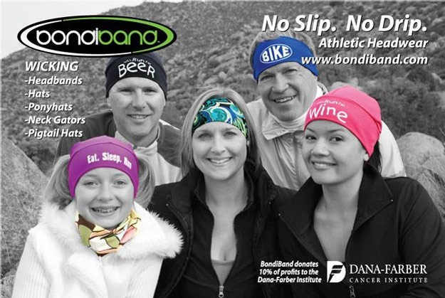 Bondi band headbands - they actually stay on my head  Just used a coupon code ONE for buy 3 get one free!