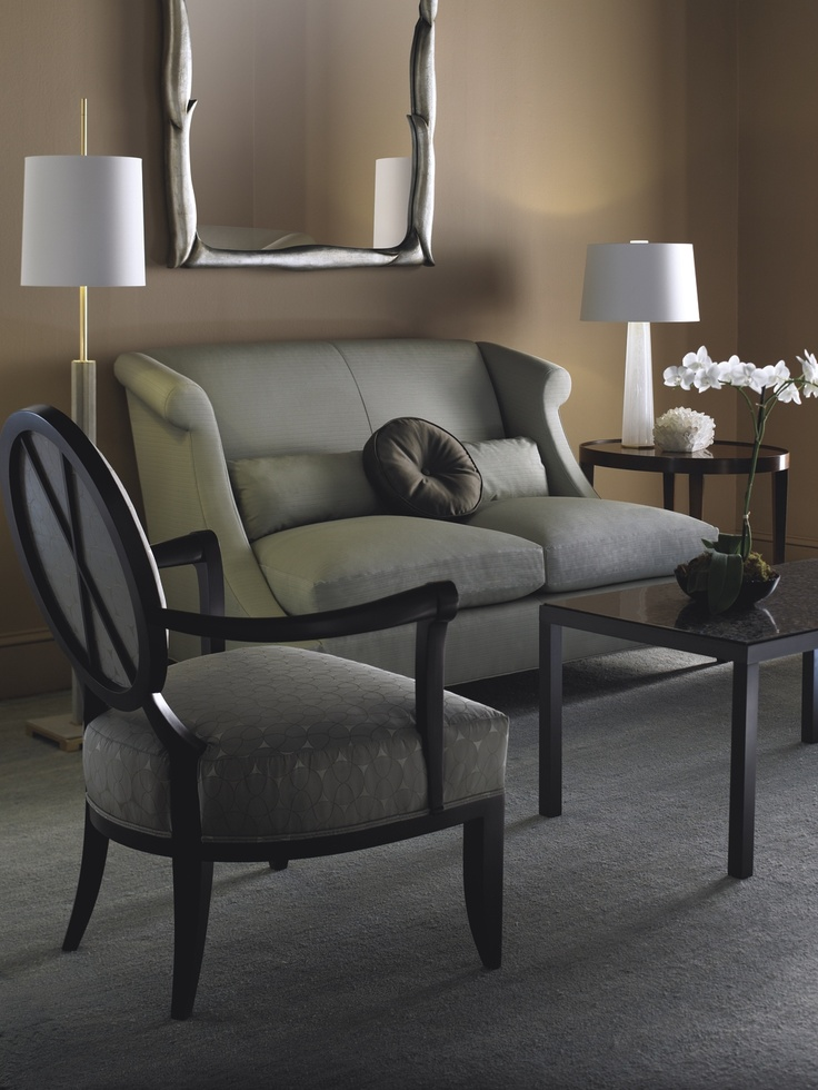 The Oval X Back Chair From Barbara Barry Collection And Villa Loveseat
