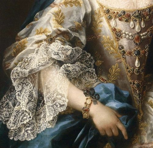 orangexocoatl: Portrait of a Lady with a Lapdog, by Sebastiano Ceccarini (1703-1783) (detail)
