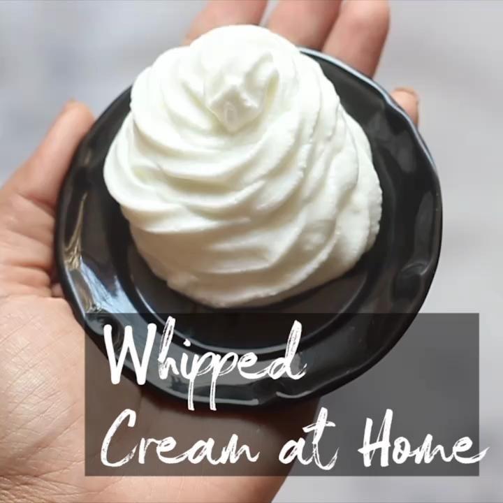 Whippedcream Homemade Kitchenhacks Heavycream Howtomakewhippedcream In 2020 Homemade Whipped Cream Recipe Homemade Sour Cream Cooking Recipes Desserts