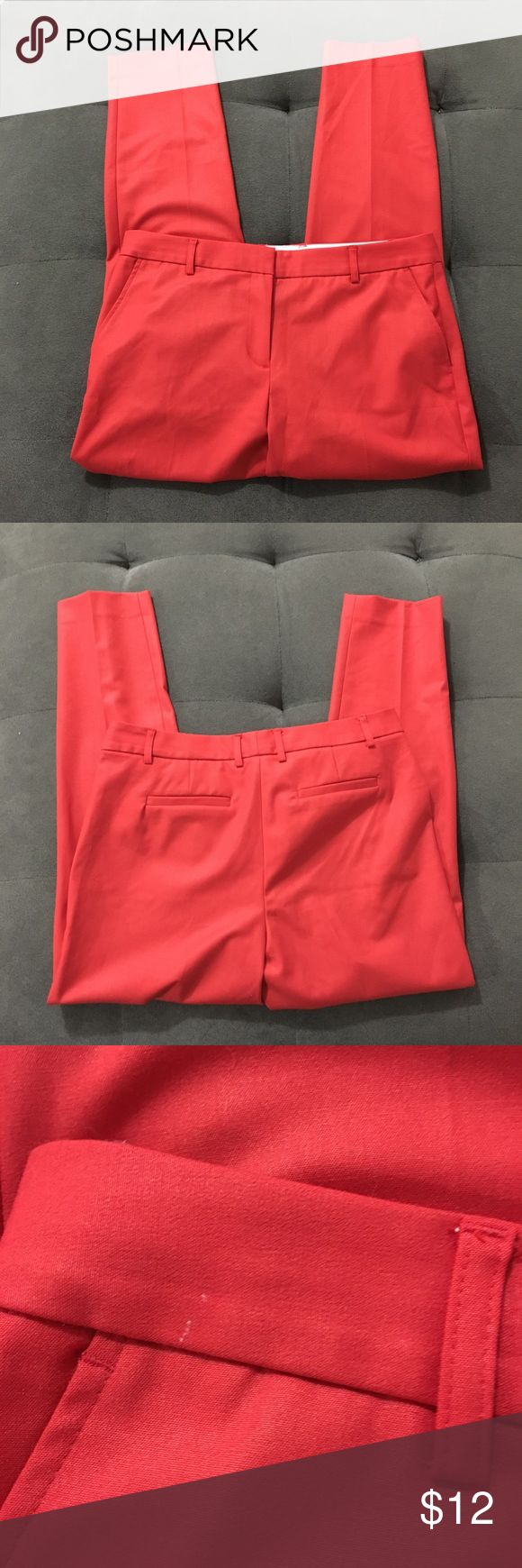 """Jones New York petite stretch dress pants Jones New York petite stretch dress pants  About 9 1/2"""" front rise About 16"""" waist (laying flat) About 27"""" inseam  Good pre-loved condition. Look at pics of wear around waist, tag is cut  Bundle fav items for personal discount. Offers are always welcome, too! No trades. Thank you! (12)  Tags: work, career, casual, interview, red Jones New York Pants Trousers"""