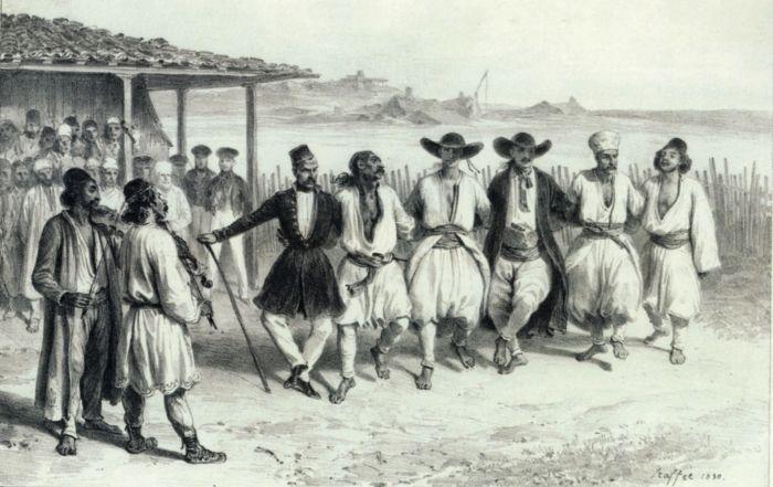 La joc. Dans valah din Cerneţi, Valahia 1839