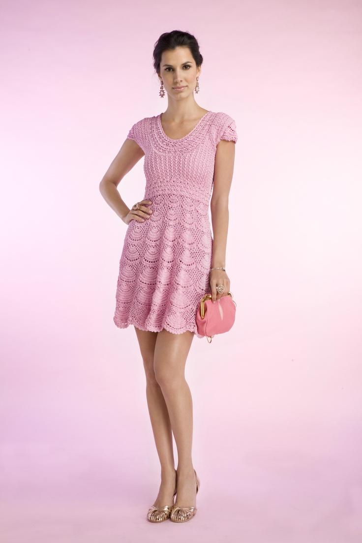 Las mejores 337 imágenes de crochet vestidos en Pinterest | Vestidos ...