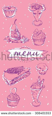 Desert menu cover