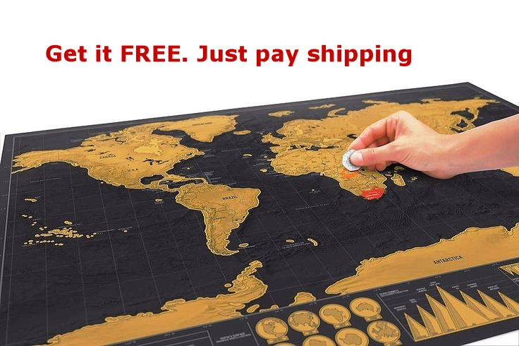 """Scratch Off World Map Poster - 16.5 x 11.8"""" - Get It Free, Just Pay Shipping"""